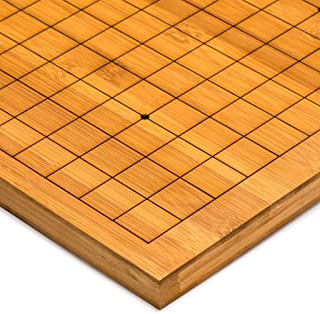 Yellow Mountain Imports Bamboo Etched Reversible 19x19 / 13x13 Go Table Board Goban - 0.8