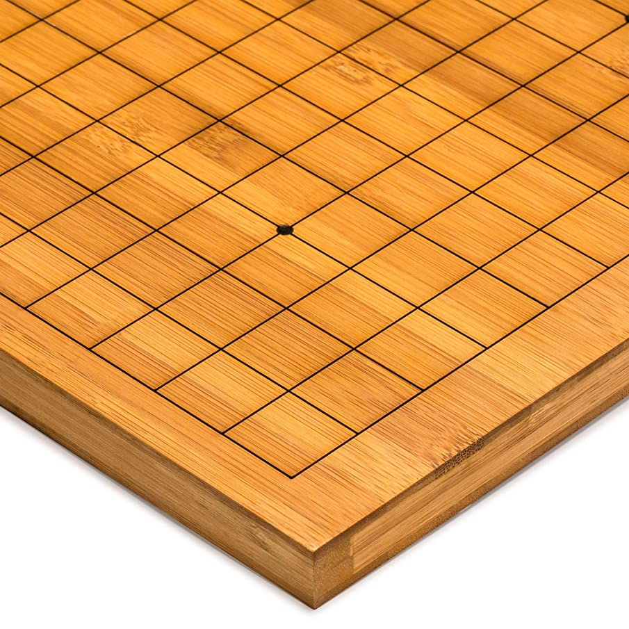 Yellow Mountain Imports Etched Bamboo Go Table Board (Goban), 0.8 Inch Thick