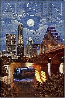 Austin, Texas - Skyline at Night (20x30 Premium 1000 Piece Jigsaw Puzzle, Made in USA!)