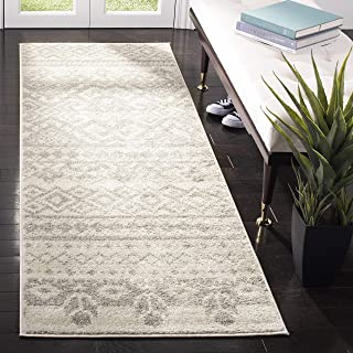 Safavieh Adirondack Collection ADR107B Ivory and Silver Rustic Bohemian Runner (2'6