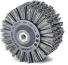 Lessmann ronde borstel kunststof behuizing 140 mm 18 x 13 krag. SIC K 80/1,20 mm Gew. M 14, 402890