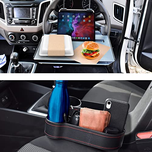 new arrival EcoNour popular Gift Bundle   2 in 1 Car Steering Wheel Tray + Car Seat Gap Filler with Cup Holder (2 Pack)   Car Food Trays for Adults   Foldable Car Tray Table   Pocket Organizer Car 2021 Storage Accessories sale