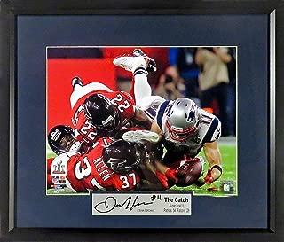 "New England Patriots Julian Edelman ""The Catch"" Super Bowl LI 11x14 Photograph (SG Signature Engraved Plate Series) Framed"