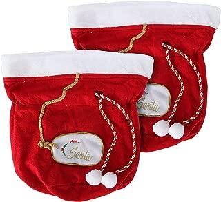 Christmas Gift Bags, Santa Gift Bags, Set of 2 Santa Bags, Fabric Gift Bags, Large Gift Bags, Reusable Christmas Bags, Christmas Gift Bag Set, Red Gift Bags
