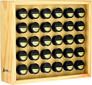 AdirChef Wooden Spice Rack - Includes 30 3.5oz Jars- Maple (14
