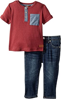 7 For All Mankind Kids - Two-Piece Pocket Tee and Jeans Set (Infant)