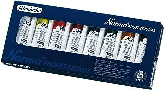 Schmincke Künstlerfarben, Norma® Professional Ölfarbe, Kartonset mit 8 x 35ml Tuben