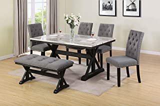 Amazon.com: 6 Pieces - Table & Chair Sets / Kitchen & Dining ...