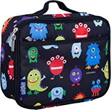 Wildkin 33600 Monsters Lunch Box, Insulated, Moisture Resistant, and Easy to Clean with Helpful Extras for Quick and Simple Organization, Olive Kids Design