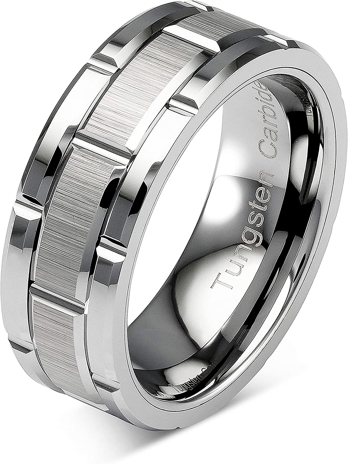 100S JEWELRY Tungsten Rings For Men Silver Band Pa Wedding Challenge the Free shipping on posting reviews lowest price of Japan Brick