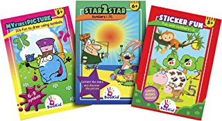 Activity Books for Kid's Coloring Books Include Find The Difference, Stickers, Sketches and Star Lines - Bundles Activity-...