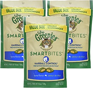 Feline Greenies SMARTBITES Hairball Control Tuna (4.6 oz) 3 Pack
