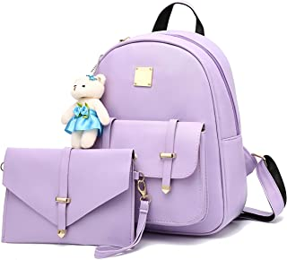 Barsine Mini Backpack Purse with Wallet Set for Teen Girls BookBag