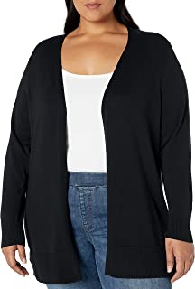 Women's Plus Size Lightweight Open-Front Cardigan Sweater