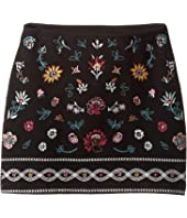 Ella Moss Girl - Kera Ponte Skirt with Embroidery (Big Kids)