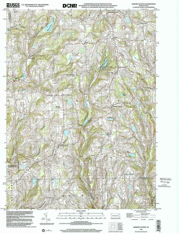 Auburn Center PA topo map, 1 24000 Scale, 7 5 X 7 5 Minute