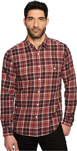 7 For All Mankind Long Sleeve Brushed Plaid Shirt