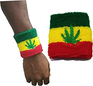 BUNFIRES Rasta Reggae Marijuana Pot Leaf Weed Smoke Muñequera Suéter Jamaica Rastafarian Pulseras