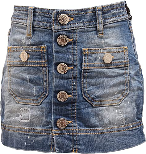 Dsquarouge2 3916T Gonna Bimba Jeans jupe bleu Denim Enfant