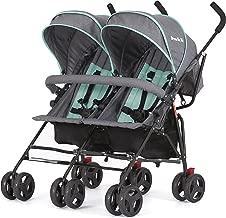 Dream On Me Volgo Twin Umbrella Stroller, Mint/Dark Grey