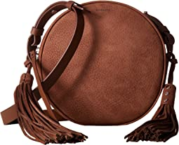 The Kepi Leather Round Crossbody