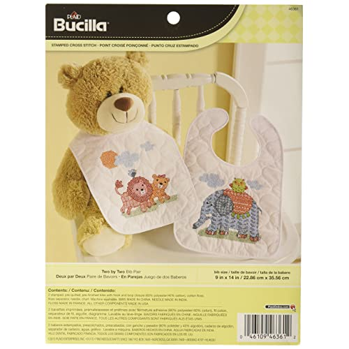 Set Of 2 Dimensions Counted X Stitch Bibs Stinking Cute Baby Printed Two