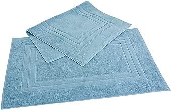 Homestead Textiles Growers Collection 100-Percent Zero-Twist Pima Cotton 2-Piece Bath Mat Set, Teal