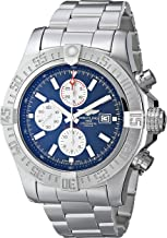 Breitling Men's BTA1337111-C871SS Super Avenger II Analog Display Swiss Automatic Silver Watch