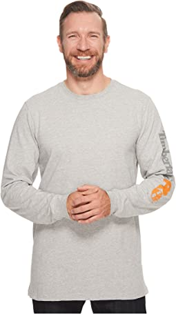 Base Plate Blended Long Sleeve T-Shirt with Logo
