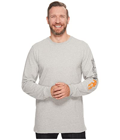 Timberland PRO Base Plate Blended Long Sleeve T-Shirt with Logo (Light Heather Grey) Men