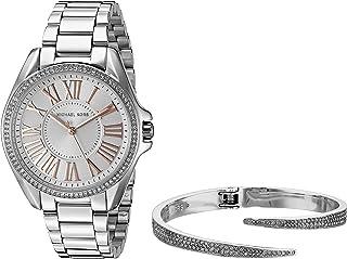 43dad63a6474 Michael Kors Women s Kacie Silver-Tone Watch and Bracelet Gift Set MK3567