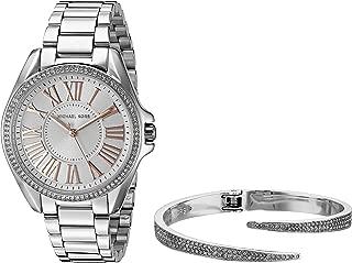 Women's Kacie Silver-Tone Watch and Bracelet Gift Set MK3567