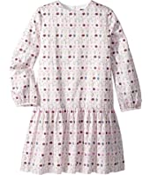 Oscar de la Renta Childrenswear - Long Sleeve Printed Day Dress (Little Kids/Big Kids)