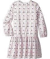 Oscar de la Renta Childrenswear - Long Sleeve Printed Day Dress (Little Kids/Big Kids)