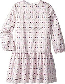 Long Sleeve Printed Day Dress (Little Kids/Big Kids)