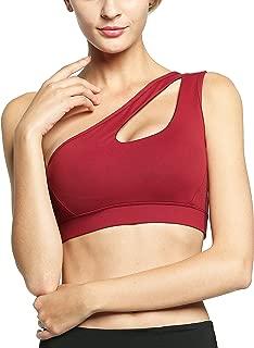 One Shoulder Sports Bra Workout Yoga Bra Sexy Cute Medium Support