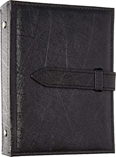 Csinos Organizer, Portable Travel Jewelry Case Pu Leather Earring Holder with Book Design (Black), Medium
