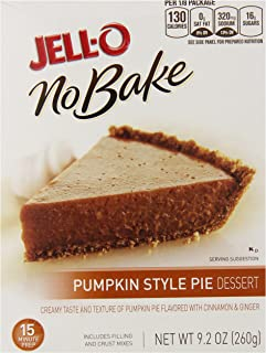 Jell-O No-Bake Pumpkin Style Pie Dessert, 9.2 Ounce (Pack of 12)