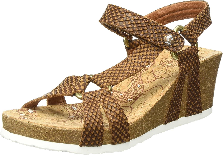Panama Jack Damen lilata Snake Offene Sandalen mit Keilabsatz