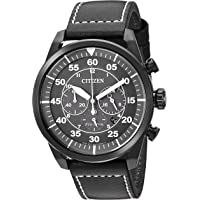 Deals on Citizen Eco-Drive Avion Mens Chronograph Leather 44mm Watch Refurb