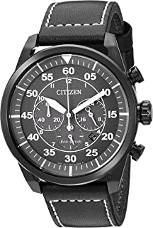 Citizen CA4215-21H 生态驱动器CA4215-21H analog 皮革 黑色 CA4215-21H watches