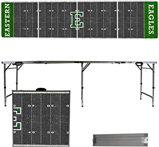Victory Tailgate NCAA 8'x2' Foldable Tailgate Table with Adjustable Hight and Spill Resistant Sealant - Football Field Series
