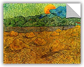 ArtWall Art Appealz Removable Wall Graphic, Vincent Vangogh's Evening Landscape with Rising Moon, 36 by 48-Inch