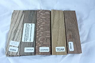 Variety Pack of 5 Wood Scales, Wood for Knife Making – Knife Handle Material – Knife Making Supplies – Payne Bros – Knives of Payne – Wood Handle Material - Untreated Wood - (JLM)