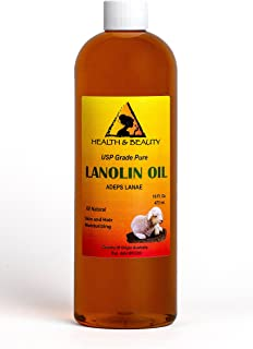 Lanolin Oil USP Grade 100% Pure Skin and Hair Moisturizing 32 oz