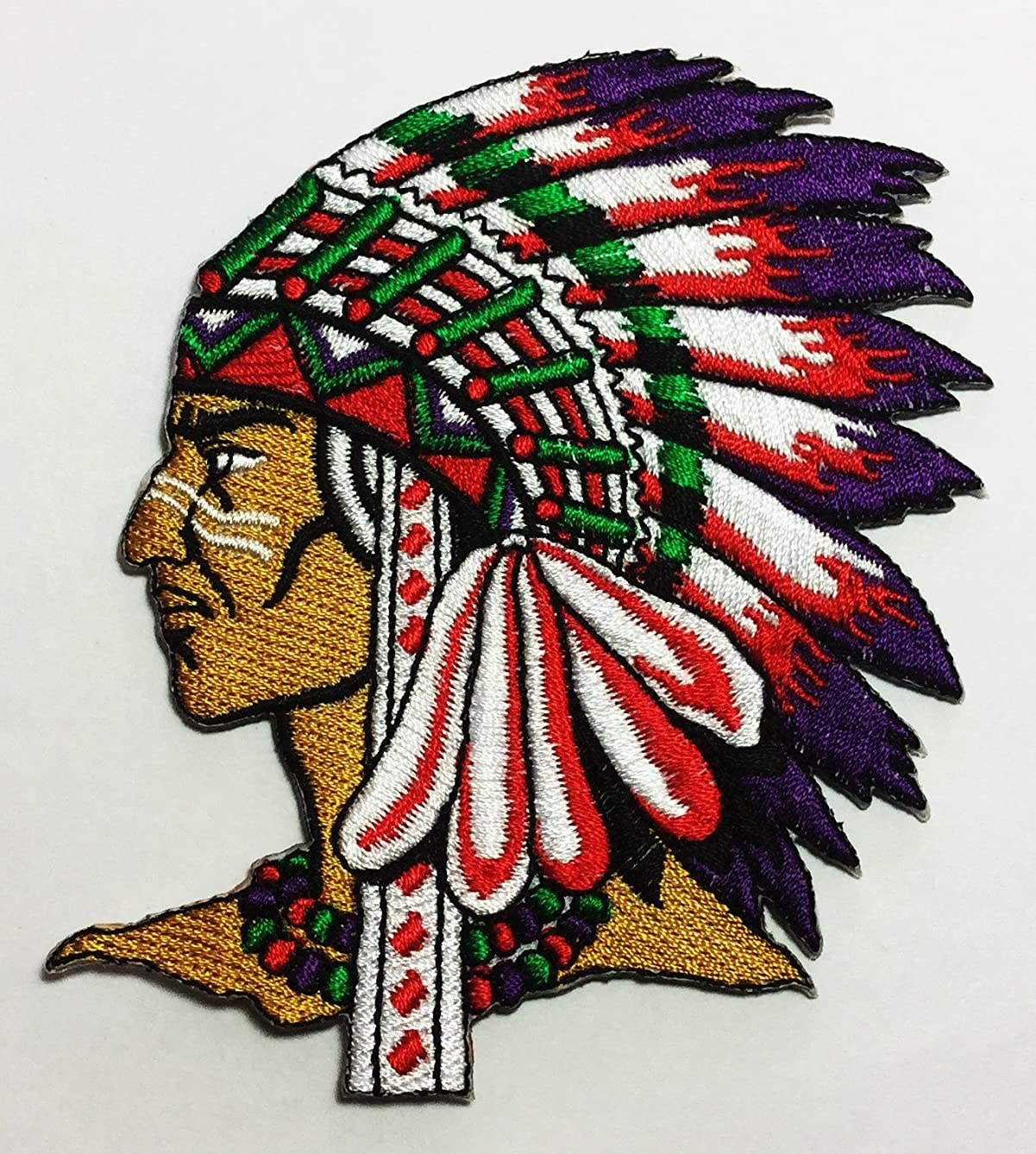 Native American Indian DIY Applique Embroidered Sew Iron on Patch p#130