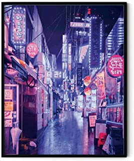 Neon Art and College Posters By Haus and Hues   College Dorm Room Decorations, Cool Posters for Guys, Trippy Neon Room Dec...