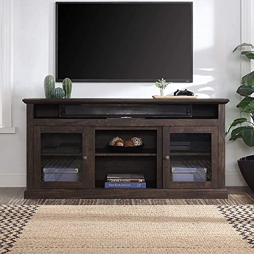 """discount BELLEZE Cayman 60"""" outlet sale Entertainment popular Center TV Stand Console Fit TV's Up to 65"""", Storage Shelves Cabinet Doors, Brown outlet sale"""