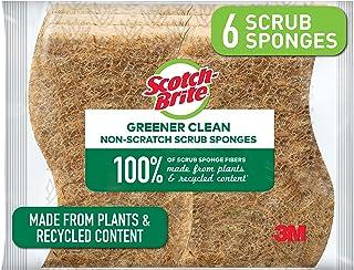 3M Éponges Scotch-Brite: greener clean non-scratch scrub sponge / 6-pack (Naturel) non-scratch / 6-pack