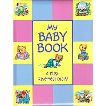 Treasured Memories My Baby Book multicolour First Five Year Baby Record Book